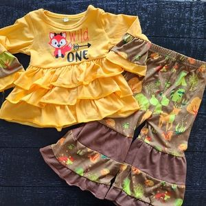 Wild One Fall Harvest Outfit Girls